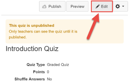 Go to Quiz Editor