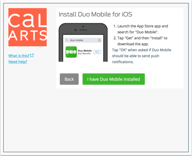 Install the Duo Mobile app