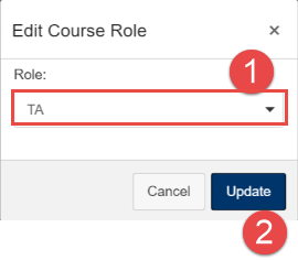 Select new role and click update