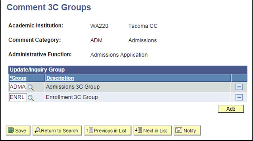 Comment 3C Groups