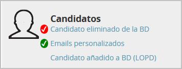 """Plantilla de Mensajes a """"Candidatos"""""""