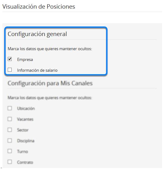 Configuración General