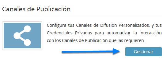 Accede a Canales de Publicación