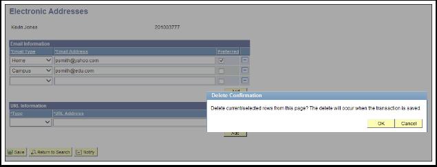 Delete Confirmation