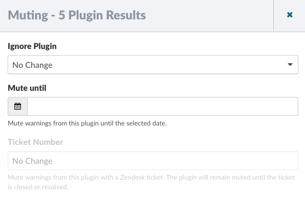 Muting - Plugin Results
