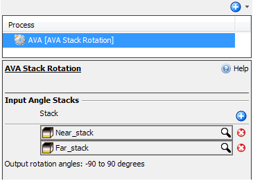 Select two input angle stacks