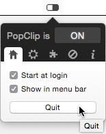 Quit PopClip