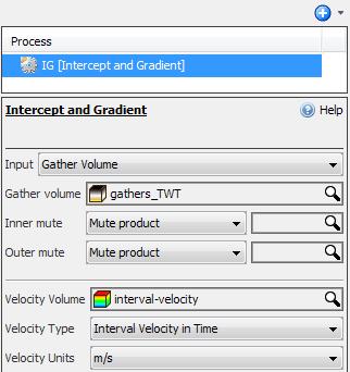 Calculate intercept/gradient from gather volume