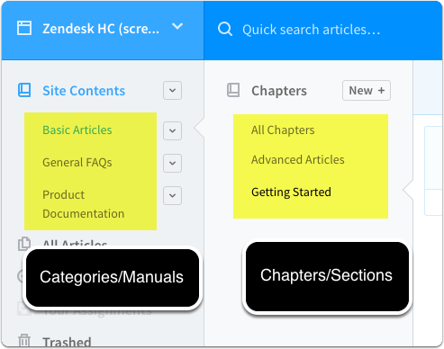 Create or import articles