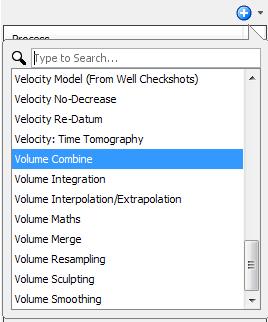 Create a volume combine process