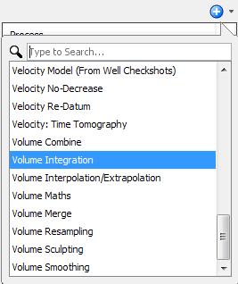 Create a volume integration process