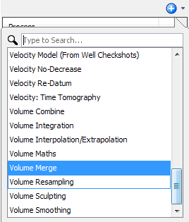 Create a volume merge process