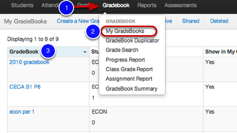 Accessing a Shared Gradebook for the First Time