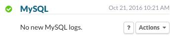 MySQL - No new MySQL logs