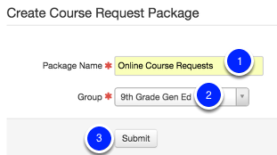 Setting up your Online Course Requests