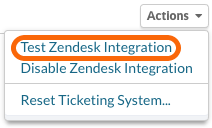 Test Zendesk Integration