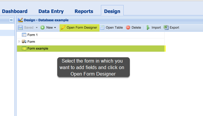 Adding fields to a form you have create