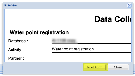 Review the blank form and confirm to print