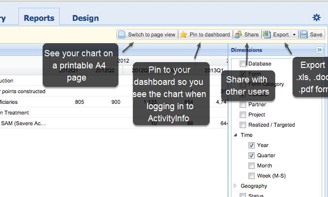 Export, share or print your pivot table