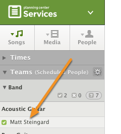 Inside a plan, click on a scheduled person's name.