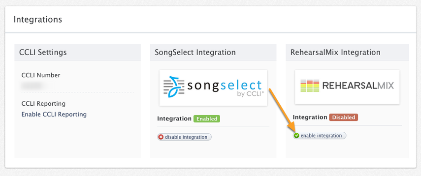 Click Enable Integration
