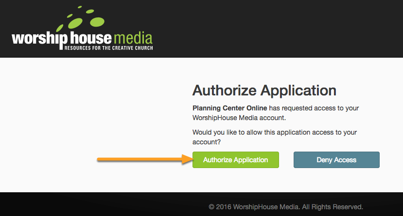 Authorize the Integration