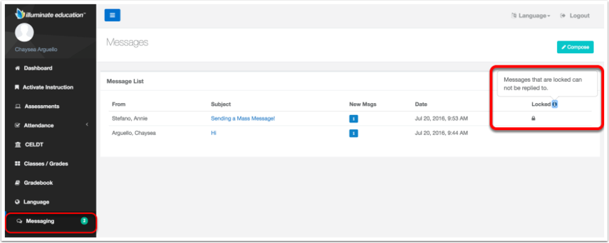 Parent Portal Messaging Overview