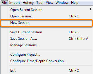 Create a new session