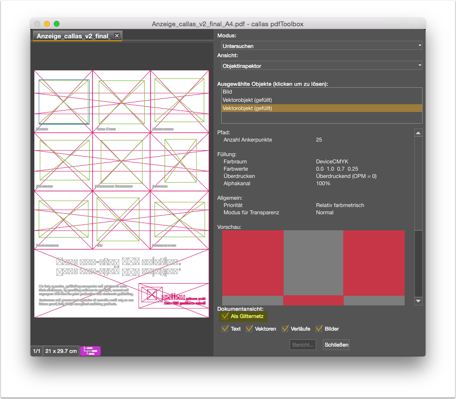 selection with wireframe