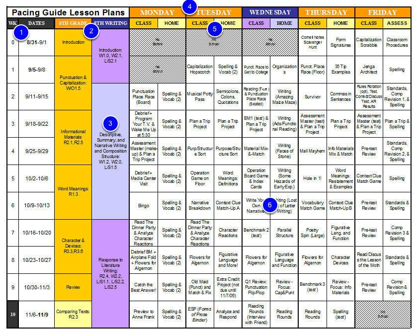 Create select a quality pacing guide illuminate education for Pacing calendar template for teachers