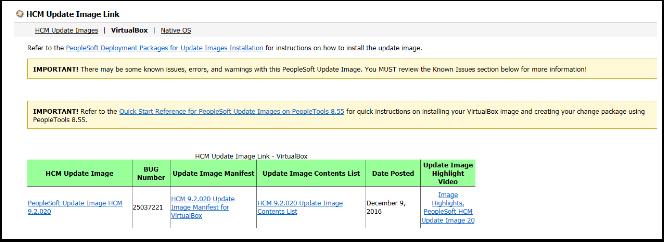 HCM Update Image Link