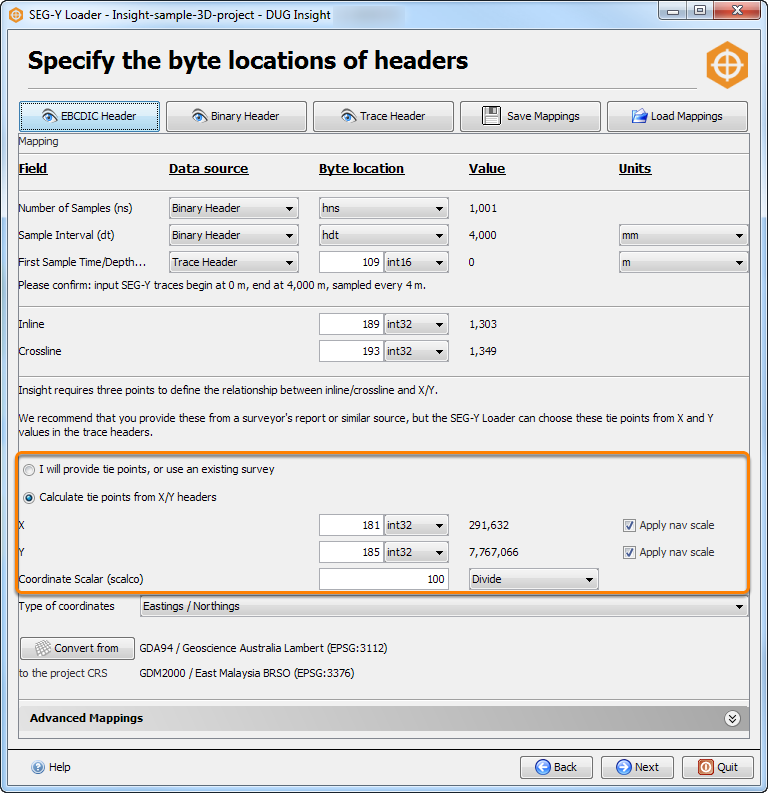 Remap X and Y for navigation data