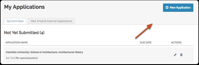 """Click """"New Application"""""""