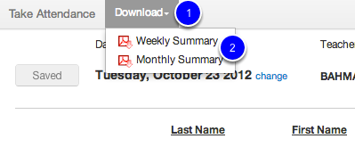 Download Weekly Summary
