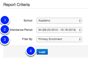 Select your Report Criteria