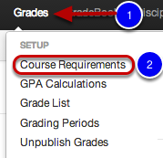Adding Categories to a Course Requirement