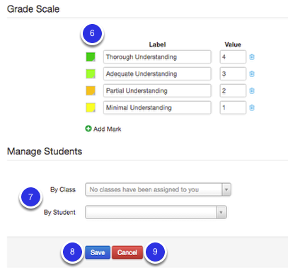 Grading Scale and Students