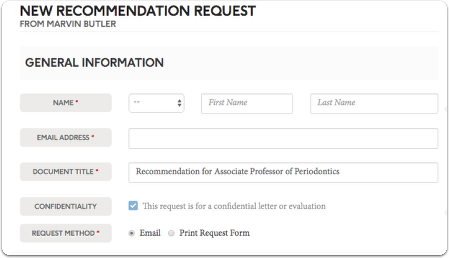 For new recommendations you will need to fill out the recommendation request form