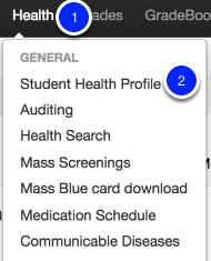 Using the Student Health Profile Widget