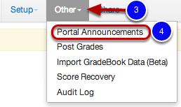 Adding a Portal Announcement