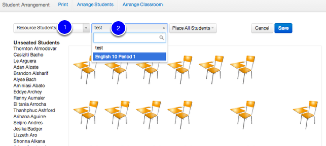 Adding students to a configuration