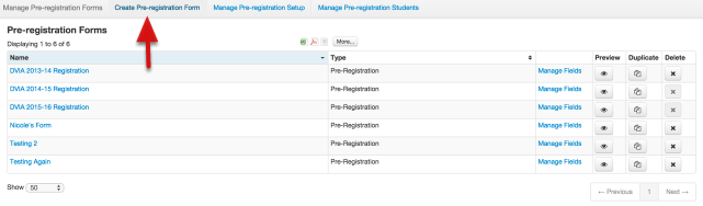 Manage pre registration forms illuminate education this is your manage pre registration forms page to create a new form select create pre registration form at the top of the page thecheapjerseys Image collections
