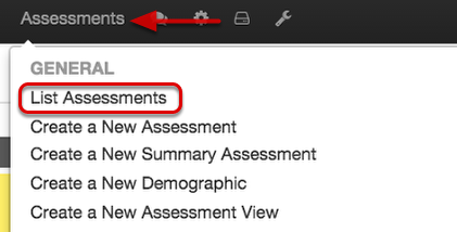 Assessment's Performance Widget