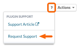 Plugin Support > Request Support