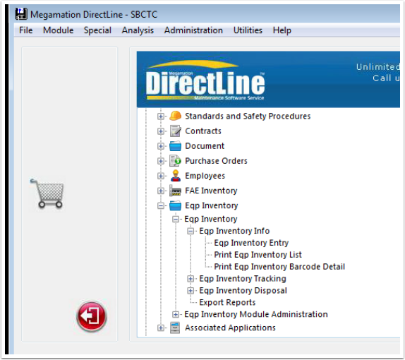 Direct Line Eqp Inventory Navigation
