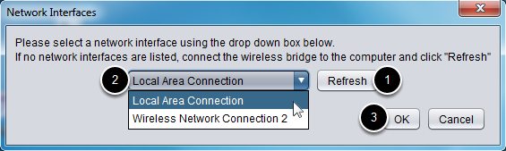 Select the network interface