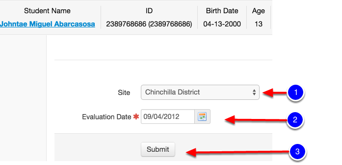 Add Sit and Evaluation Date