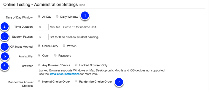 Administration Settings (Click Show):
