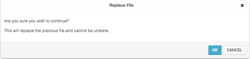 "Click ""OK"" to confirm your decision to replace the file"