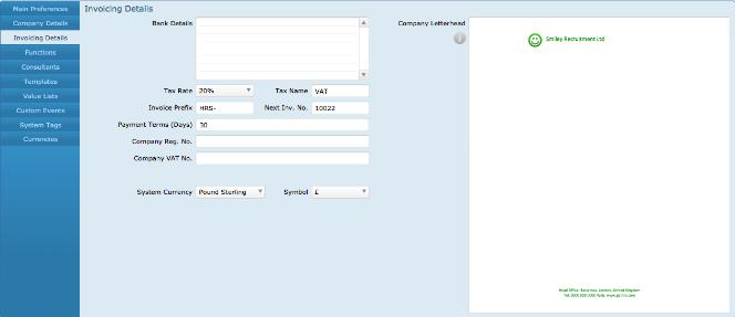Invoicing Details